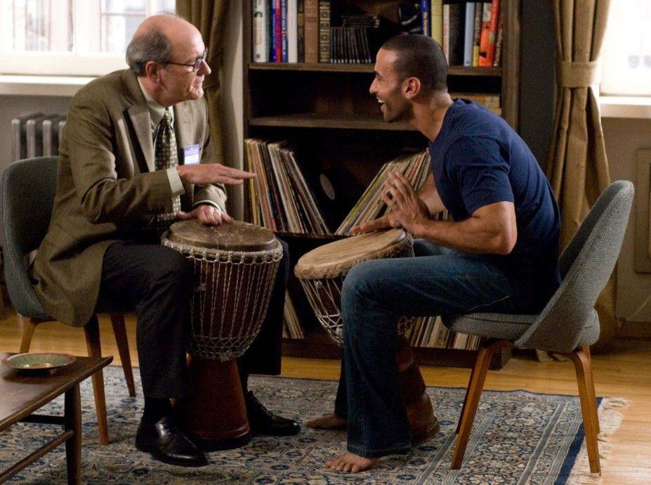 Freude durch Trommeln: Richard Jenkins (r.) und Haaz Sleiman