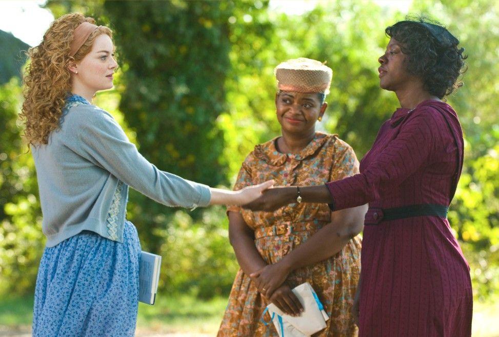 Verschwörerisch: Emma Stone (l.) mit Octavia Spencer (M.) und Viola Davis