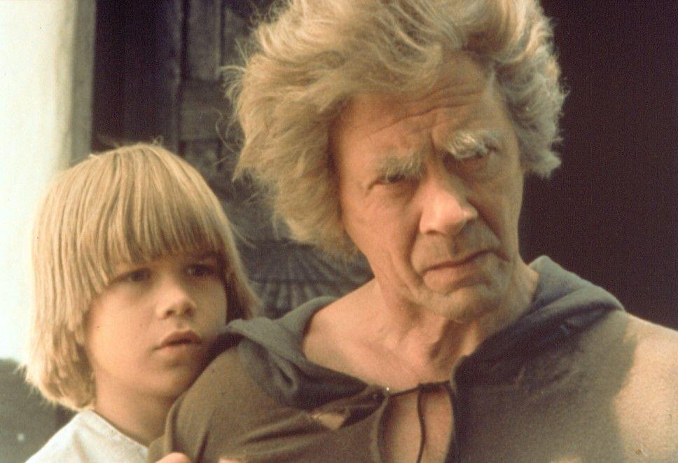 Der kleine Krümel (Lars Söderdahl) und sein Vater (Allan Edwall)