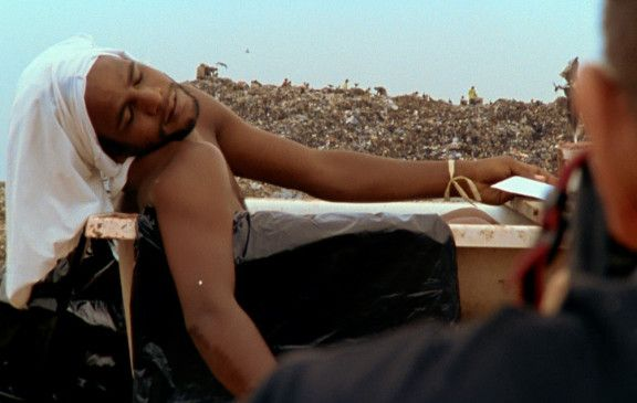 """Kurze Ruhepause für das Shooting auf der Müllkippe """"Jardim Gramacho"""""""