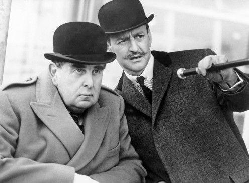 Der Mörder auf der Spur - Robert Morley (l.) und Tony Randall