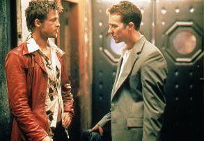 Und, sollen wir uns draußen prügeln? Edward Norton (r.) und Brad Pitt.