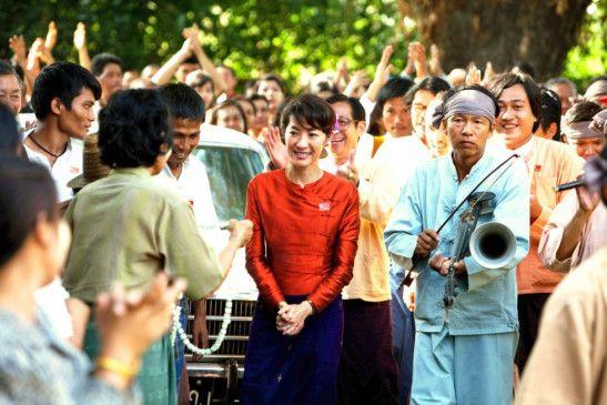 In der Heimat verehrt: Michelle Yeoh als Suu Kyi