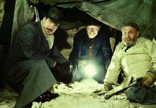Still mal gerade! Götz George, Otto Sander und Rolf Hoppe (v.l.)