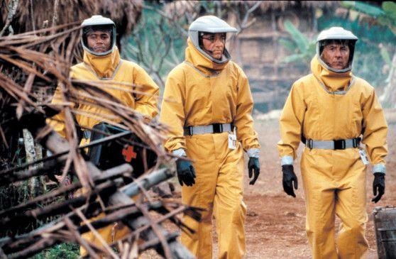 Gegen dieses Trio hat nicht mal Ebola eine Chance: Dustin Hoffman, Kevin Spacey, Cuba Gooding jr. (v.r.)