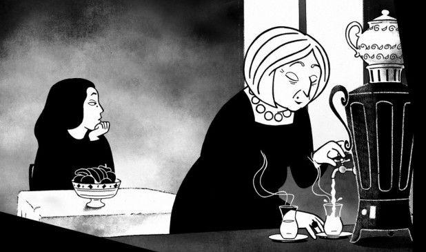 Marjane (l.) ist wieder in Teheran und fällt in eine tiefe Depression