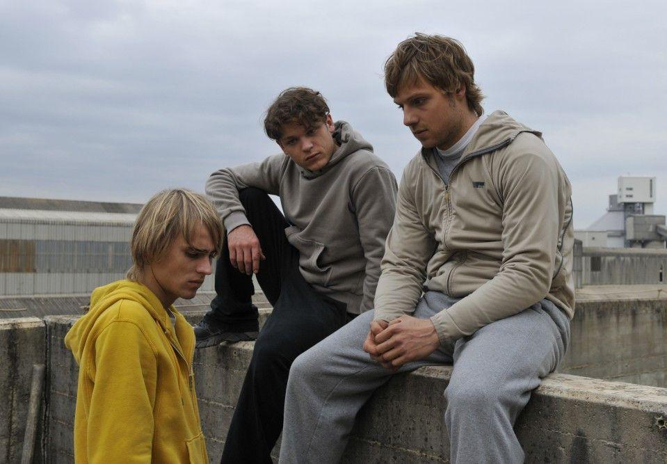 Und was machen wir jetzt? Constantin von Jascheroff, Marlon Kittel und Christoph Letkowski (v.l.)