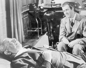 Mein Hase hört mir besser zu! James Stewart (r.)  und Charles Drake
