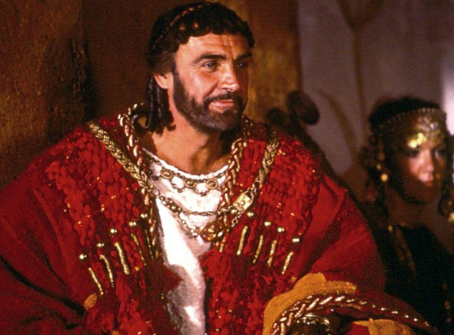 Sean Connery als griechischer König Agamemnon