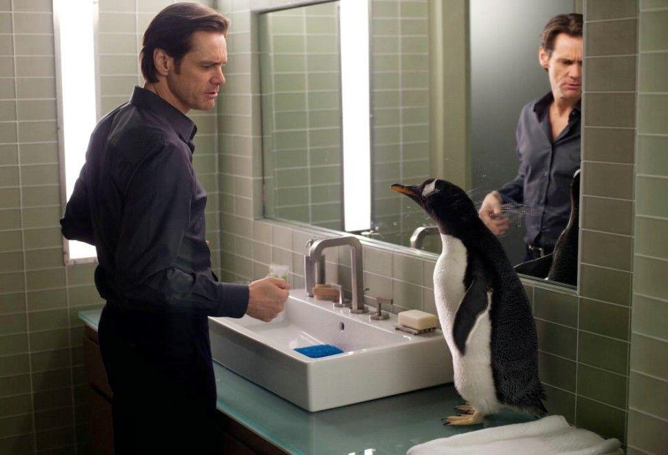 Zwiegespräch mit Pinguin: Jim Carrey