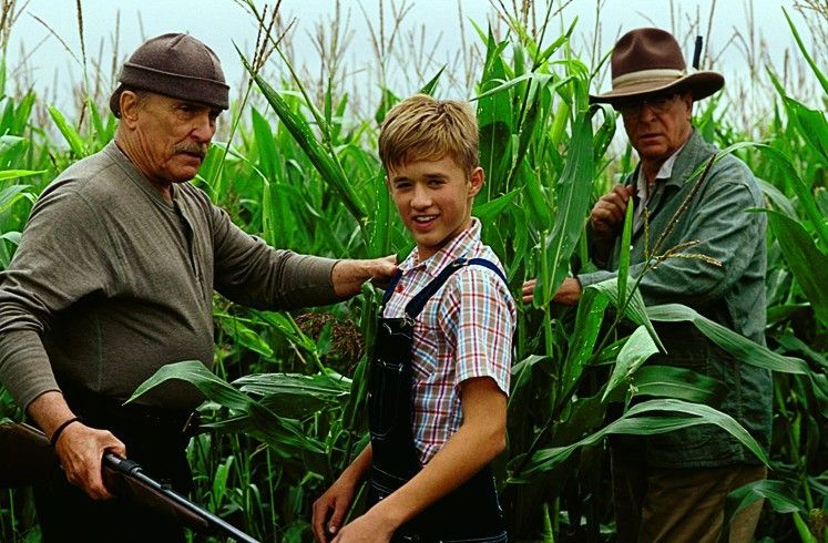Sei nicht so schüchtern, Junge! Robert Duvall,  Haley Joel Osment und Michael Caine (v.l.)