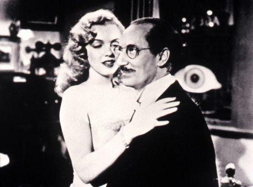 Das muss man doch die Augen verdehen! Groucho Marx und die junge Marilyn Monroe