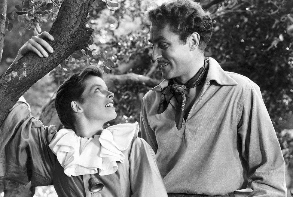 Und du willst ein Junge sein? Brian Aherne mit Katharine Hepburn