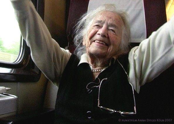 Lebensfreude auch im hohen Alter: Hilde Domin