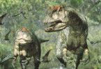 Papa-T-Rex mit Söhnchen im Wachstum
