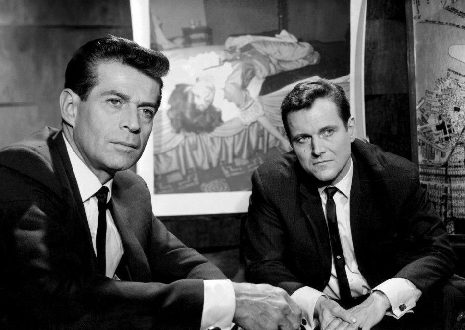 Ihr erster Fall: die FBI-Agenten Jerry Cotton (George Nader, l.) und Phil Decker (Heinz Weiss)