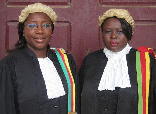 Kämpfen für die Rechte der Frauen: Vera Ngassa (l.) und Beatrice Ntuba
