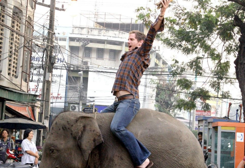 Jake Hunt (Jonno Robert) kauft im Drogenrausch einen Elefanten