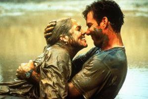 Ich hab' doch gesagt, Schlammbaden ist toll!  Kathleen Turner und Dennis Quaid