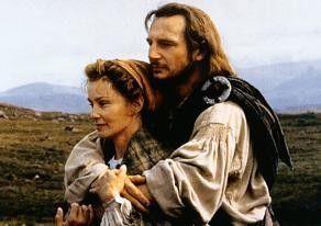 Glaub' mir, unter dem Schottenrock ist gar nichts: Liam Neeson mit Jessica Lange