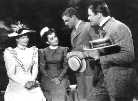 Grand mit Vier: Rita Hayworth, Olivia de Havilland,  James Cagney, Jack Carson (v.l.) in einem amüsanten  Spiel