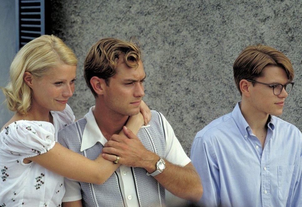 Marge  (Gwyneth Paltrow), Dickie Greenleaf (Jude Law) und Tom Ripley (Matt Damon, r.) haben sich angefreundet