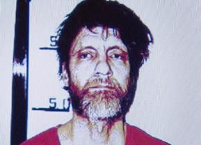 Theodore J. Kaczynski nach seiner Verhaftung im April 1996