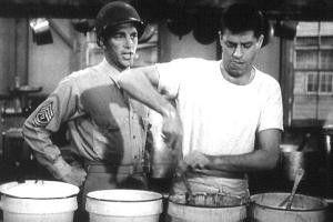 Du Null kannst ja nicht mal Kartoffeln schälen:  Dean Martin motzt Jerry Lewis an