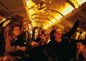 Die Passagiere geraten bei dem Absturz in Panik