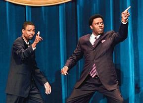 Ich werde der künftige US-Präsident! Chris Rock (l.) albert über die Bühne