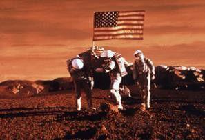 Verdammt, die Fahne geht nicht rein! Der rote  Planet wird annektiert