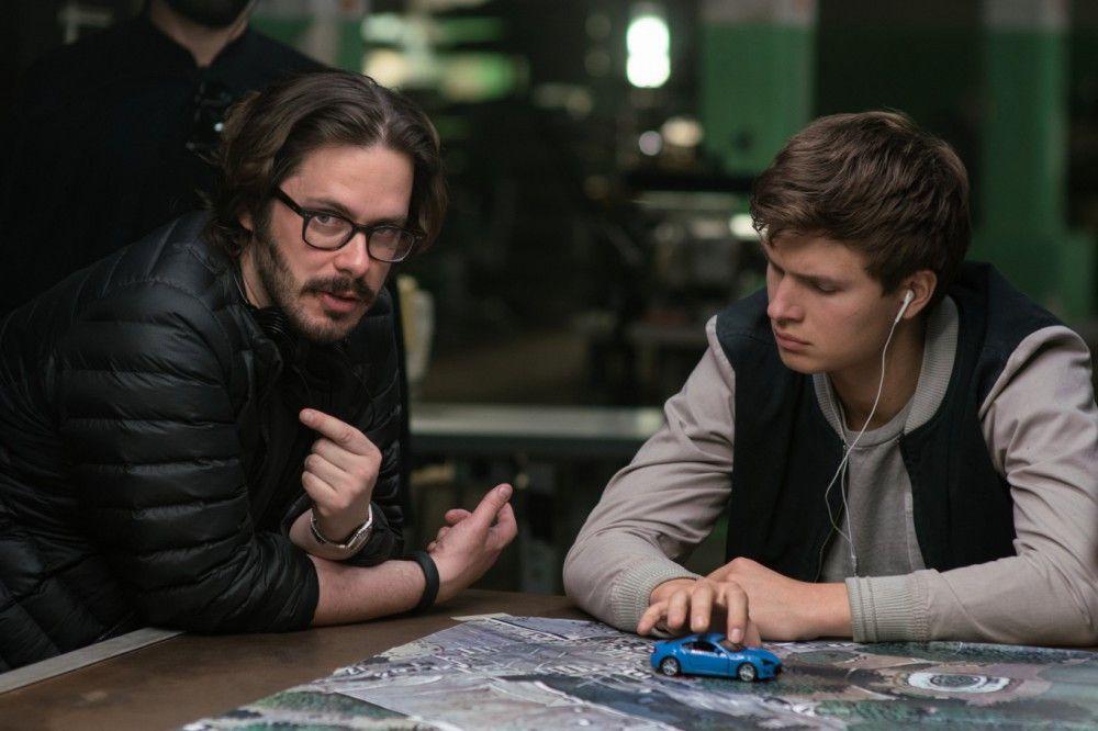 """Edgar Wright (links) führte bei """"Baby Driver"""" mit Ansel Elgort Regie."""