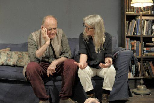 Bei den Dreharbeiten: Bruno Ganz (Gottfried) und Sally Potter (Regie).