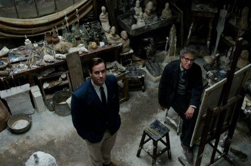 Schaffenspause: Giacometti (Geoffrey Rush, rechts) und sein Model (Armie Hammer).