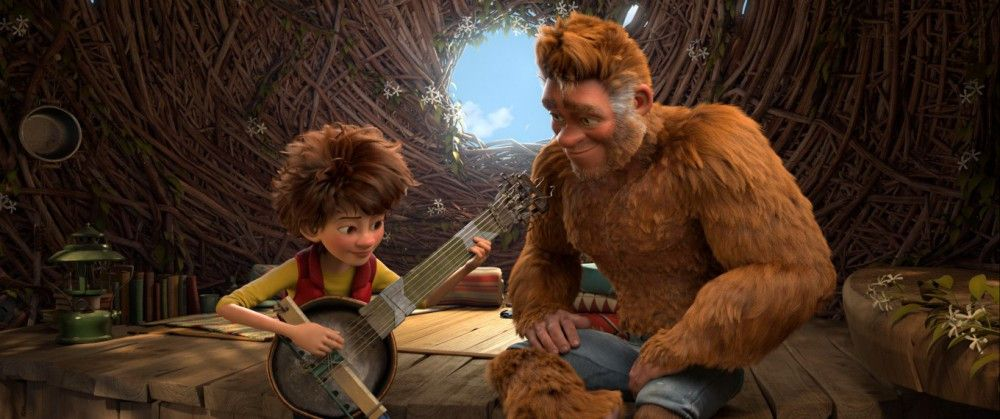 Endlich hat Adam (Synchronsprecher Lukas Rieger) seinen liebenswerten Vater Bigfoot (Synchronsprecher Tom Beck) gefunden.
