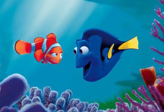 Wo ist der Kleine? Dorie (r.) tröstet Nemos Vater