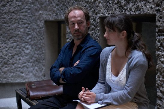 Regisseur mit williger Musterschülerin: Ulrich Noethen mit Stine Fischer Christensen