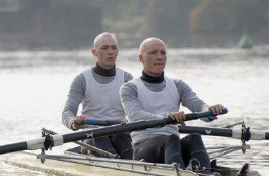 Glatzköpfe unter sich: Tino Mewes und Jakob Matschenz (v.l.)