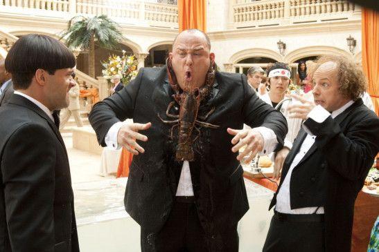 Oberdeppen unter sich! Moe (Chris Diamantopoulos), Curly (Will Sasso) und Larry (Sean Hayes)