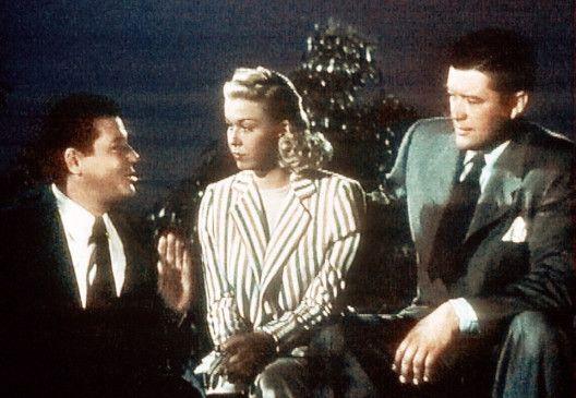 Dennis Morgan (l.) und Jack Carson wollen Judy Adams (Doris Day) eine Rolle in einem neuen Film verschaffen