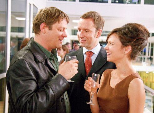 Noch wird gefeiert... Roeland Wiesnekker (l.), Michael Neuschwander und Sabine Timoteo