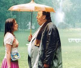 Der Schirm ist wirklich klein! Dieter Pfaff und Julia Jentsch