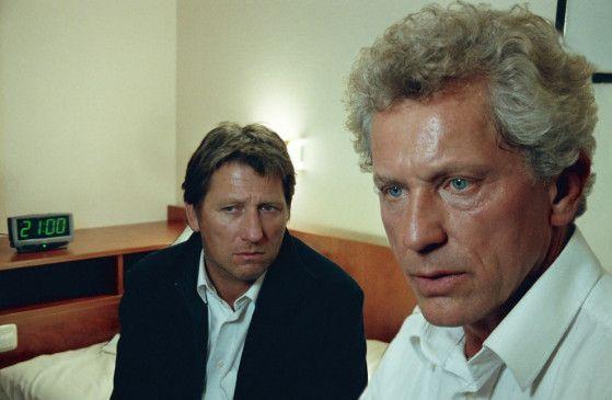 Sie bangen um ihren Kollegen: Miroslav Nemec (r.) und Michael Fitz
