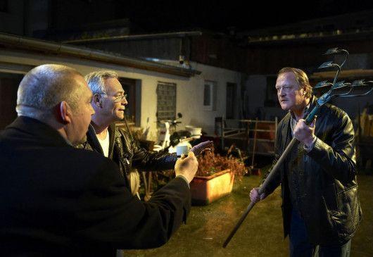 Kommen Sie mir nicht zu nahe! Freddy Schenk (Dietmar Bär, l.) und Max Ballauf (Klaus J. Behrendt) sind auf der Hut