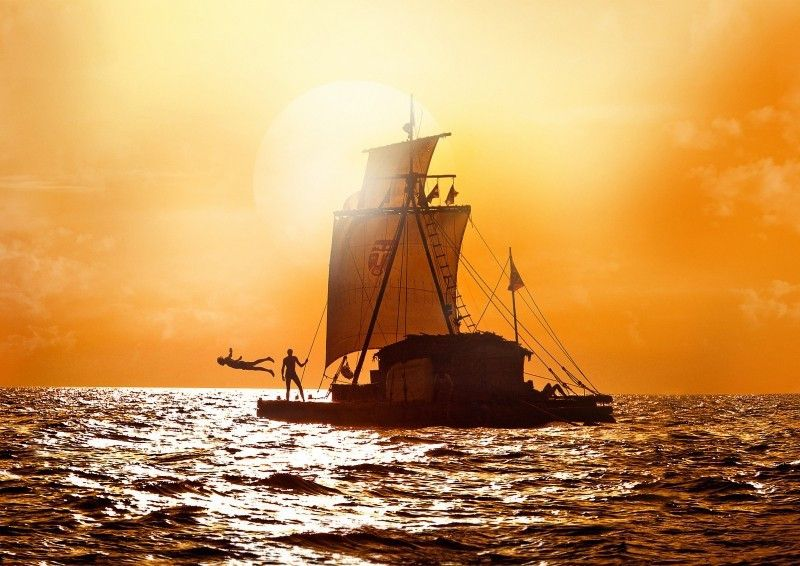 Allein im weiten Ozean: das Boot Kon-Tiki