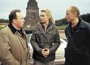 Ermittler mit Zeugin: Peter Sodann, Lisa Martinek, Bernd Michael Lade
