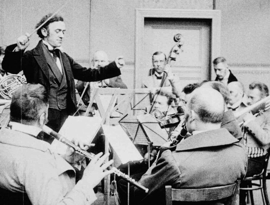 Richard Wagner (Giuseppe Becce) zu Beginn seiner Dirigentenlaufbahn