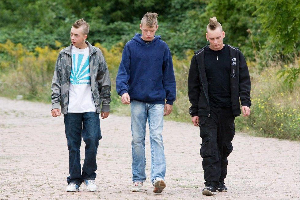 Drei zu allem entschlossene Krieger: Marco, Tim und Richy (Christian Blümel, Willi Gerk, Vincent Krüger, v.l.)