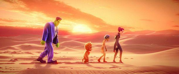 Eine Familie muss wieder glücklich werden - aber erstmal durch die Wüste.