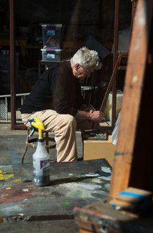 Für die Dokumentation ließ sich David Lynch beim Malen über die Schulter blicken.